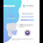 Masque Barrière Non Médical Adulte Blancs B/6 à Mérignac