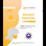 Masque barrière non médical Enfant (11/16 ans) Blancs B/6 à Mérignac