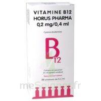 Vitamine B12 Horus Pharma 0,05 % Collyre Sol En Récipient Unidose 20unid/0,4ml à Mérignac