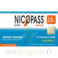 Nicopass 2,5 Mg Pastille Menthe Fraîcheur Sans Sucre Plq/36 à Mérignac