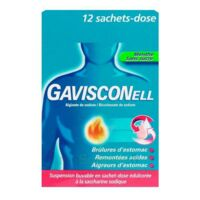 GAVISCONELL Suspension buvable sachet-dose menthe sans sucre 12Sach/10ml à Mérignac