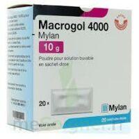 Macrogol 4000 Mylan 10 G, Poudre Pour Solution Buvable En Sachet-dose à Mérignac