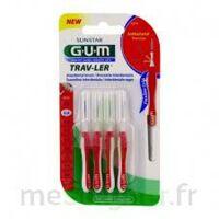 Gum Trav - Ler, 0,8 Mm, Manche Rouge , Blister 4 à Mérignac