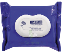 Klorane Soins des Yeux au Bleuet Lingette démaquillante biodégradable Pack/25 à Mérignac