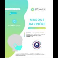 Masque Barrière Non Médical Enfant (4/10 Ans) Blancs B/6 à Mérignac