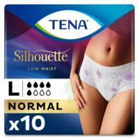 Tena Lady Silhouette Slip Absorbant Blanc Normal Large Paquet/10 à Mérignac